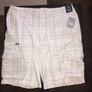 George men's white cargo shorts